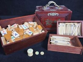 Antique Mahjong Set Early 20th Century