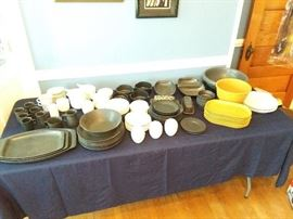 Huge array of Bennington Pottery from Vermont.