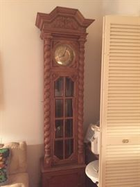 Chiming German clock over 6 feet tall