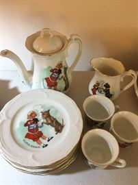Buster Brown Tea Set.