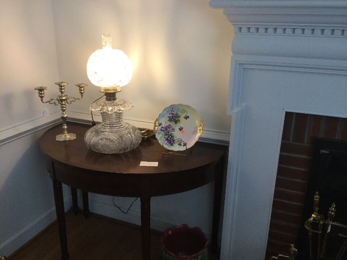 "Cut Glass ""Gone With the Wind"" Style Lamp"