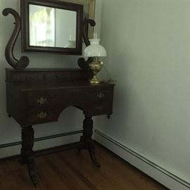 Mahogany Dresser with Carved Legs