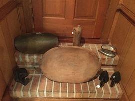 Dough Bowl and Flat Irons