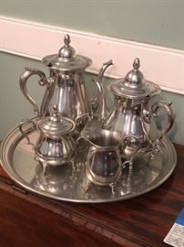 Pewter tea service