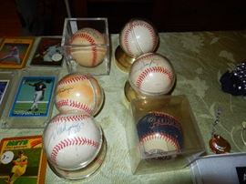 Signed Baseballs  Don Larson, Wade Boggs and more