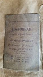 daybreak label on back of picture