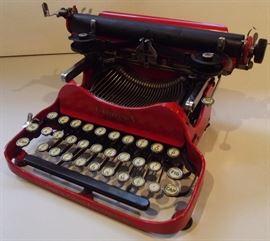 Rare circa 1930 folding orange corona number three typewriter.