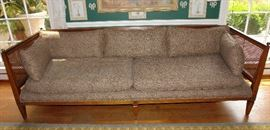 1970's style French caned sofa