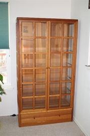 Beautiful Teak Curio Cabinet