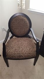 CHEETAH FABRIC CHAIR