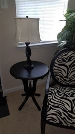 ESPRESSO TABLE WITH LAMP