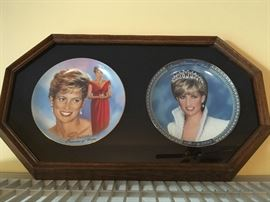 Princess Fiana collector's plates in frame