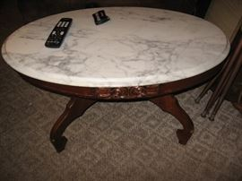 Antique white marble to table.