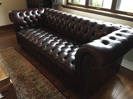 Leather Chesterfield Sofa - brown
