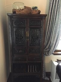 Asian storage cabinets - set of 2 available