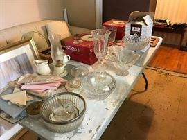 Glass vases and bowls, Christmas Dishes