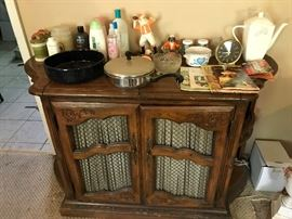 Server that matches the dining room hutch and table