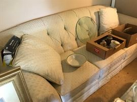 Couch with matching chair - off white