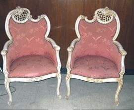 37 COLLINGS 2 FRENCH CHAIRS BSMT