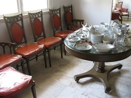 11 COLLINS DIN RM TABLE CHAIRS