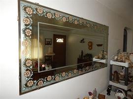 Vintage Large Wide Mirror