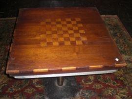 parquetry checker board table top