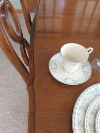 Cup and saucer to china set.