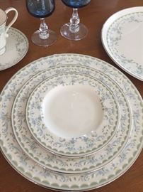 12 piece place setting of Pickard China purchased in 1973.   All pieces in perfect condition.  No chips or scratches.  Includes: 12 dinner plates, 12 desert plates, 12 salad plates, 12 cups and saucers.