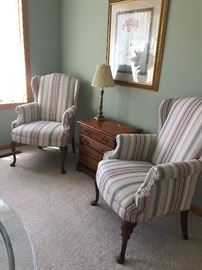 Two Queen Ann chairs purchased from Schneiderman Furniture.  Excellent condition.