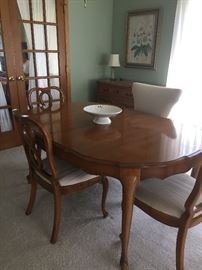 Antique Dining Room set with 6 chairs.   Was my mother's so it must be 75 yrs. old.  Great condition.