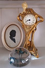 Art Deco Clock and Paperweight