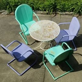 Retro Patio Chairs and Table