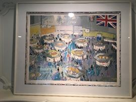 "Leroy Neiman ""London Stock Exchange"" Print Signed and Numbered"