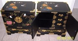 Beautiful oriental end tables / night stands