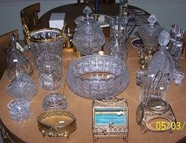 Bohemian and Waterford crystal, etc...
