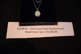 K1228 #2 -  12st Crystal Opal Museum Grade Retail Value Aprx. $10,000.00