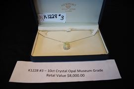 K1228 #3 – 10ct Crystal Opal Museum Grade Retail Value Aprx.$8,000.00