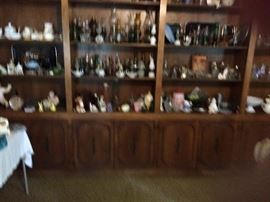 Lots of glassware including antique lamp collection