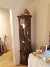 Curio cabinet and collectibles