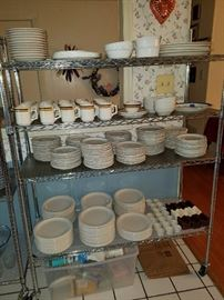 huge collection of new old stock restaurant ware