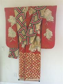 Japanese Silk Kimono Wall Hanging