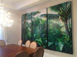 April W. Davis - original acrylic on canvas triptych