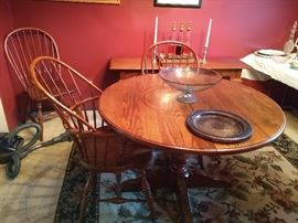Oak Dning Table with 4 Chairs