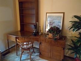 Ethan Allen Desk with Hutch & side Cabinet