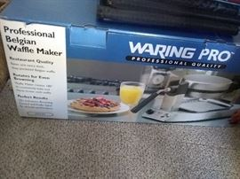 New in box, professional waffle maker by waring pro., This one is the flip-rotating type. 35.00