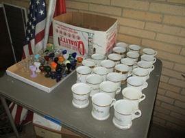3eye wash cups and shaving mugs