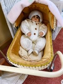 Baby Doll in Vintage Carriage