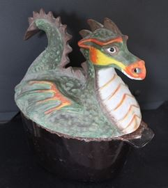 Fire breathing dragon - wood stove steamer pot.