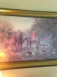 Hunt scene framed art
