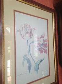 This botanical print has a framed companion.